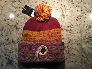 ~ 2 LEFT!-NWT-Washington REDSKINS Adult '47 BRAND Static Knit Cap Beanie Hat
