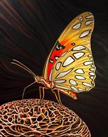 """THE DRAUGHT – Contemporary Animal Art Sausalito USA Acrylic Painting 30""""x24"""""""