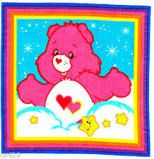 """7.5"""" CARE BEARS LOVE-A-LOT  BEAR CHARACTER NOVELTY FABRIC APPLIQUE IRON ON"""