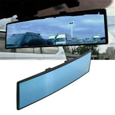 Car Rear View Mirror Anti-glare Blue Parking Reference Large Wide Angle uk
