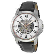 Fossil Grant Automatic Silver Skeleton Dial Men's Watch ME3101