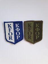 NATO Kosovo Kfor Patches  KFOR 2pc