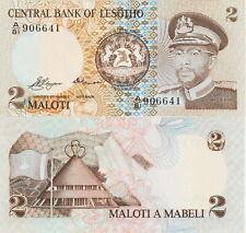 "Lesotho 2 Maloti Banknote 1981 Choice Uncirculated Cond,Pick#4-A""Free Shipping"""