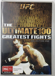 UFC The Ultimate 100 Greatest Fights Collection 1 DVD Combat Sports Fight Reg 4