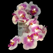 Blossom Orchid Flower With Led Bulbs, 5m 40 Pcs Artificial Floral Garland Light