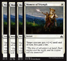 Moment of Triumph  NM x4  Rivals of Ixalan White Common