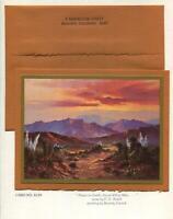 VINTAGE CHRISTMAS DESERT SAND MOUNTAIN GLEN YUCCA BEVERLY CARRICK GREETING CARD