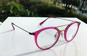 New Ray-Ban Eyeglasses Fuchsia Frames RB 7097 5631 (Demo Lens) 47-21 145