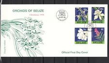 Belize, Scott cat. 1103-1106. Christmas issue showing Orchids. First day cover.