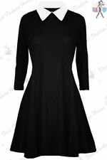Viscose Party Skater Dresses Collared for Women