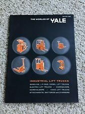 1968 Yale industrial fork lift trucks, original sales catalogue.