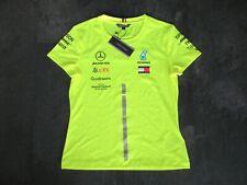 Mercedes AMG F1 Tommy Hilfiger team issue hi viz shirt sz M 2019 Hamilton Bottas