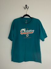 NFL Team Apparel Miami Dolphins Football Teal Graphic T Shirt Size Large