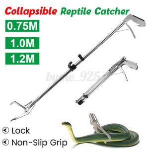 Snake Catcher Tongs Reptile Tongs  Grabber Stick Handling Tool Collapsible