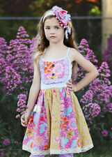 NWT Girl Mustard Pie Summer magnolia Pink Purple Multi Floral Girls sz 2