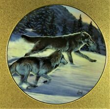 Free As The Wind Plate Year of the Wolf Al Agnew Wolves in Winter Mountain Pine