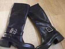 Zara - Black Knee Length Boots Size EU 39/ UK 6