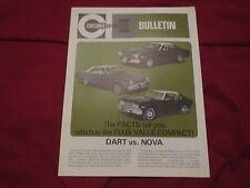 1973 DODGE DART VS CHEVROLET NOVA VERY RARE DEALER ONLY SALESMANS BROCHURE