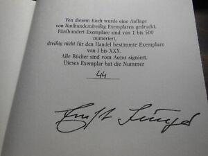 ERNST JÜNGER ZEITSPRÜNGE LEDER JANSSEN SIGNIERT NUM. 1990