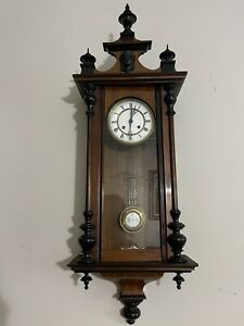 Antique Vienna Regulator R=A Wall Clock Works
