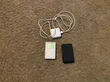 Apple iPod Classic (Touch Wheel) 2nd Gen White 20GB A1019w/ Case&Charger Bundle