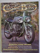 Classic Bike Magazine. April 1985. Norton Inter 'cammy' cafe racer. Triumph T140