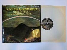 DECCA SXL 6347 FIRST EDITION 18 SONGS SCHUBERT WERNER KRENN & G.MOORE NEAR MINT