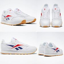 Reebok Size 6 White EF8837 Mens Classic Leather Vector Shoes Sneakers NIB