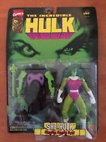 Incredible Hulk Marvel Comics Figure She Hulk Gamma Cross Bow Toy Biz 1996 NIB