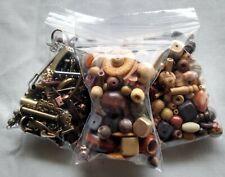 Wood Beads Mix Metal Findings Mixture Jewelry Making Supplies Loose destash