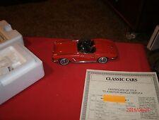Danbury Mint 1962 Chevy Corvette Convertible Red 1:24 Scale Die Cast Model Car