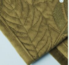 Tommy Bahama Velvet Table Runner 14x72 Quilted Forest Green Leaf Fall Motif New