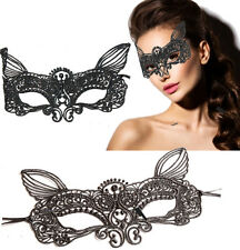 Black Lace Cat Mask Lolita Costume Victorian Venetian Masquerade Ball Halloween