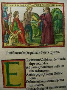 JUVENAL INKUNABEL HOLZSCHNITT SATYRAE VENEDIG TACUINUS 1522 IUVENALIS WOODCUT