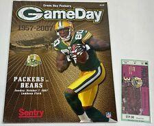 NFL GameDay Program - Green Bay Packers vs. Chicago Bears - 10/07/2007