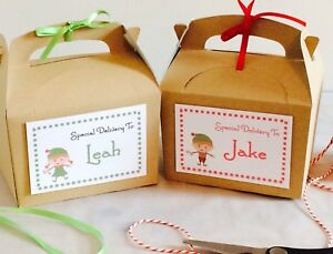 Personalised Christmas Eve Gift Box Kraft Brown Party Favour (Special Delivery)