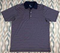 F&G Tech Men's Short Sleeve Shirt Golf Polo Striped T-Shirt Size XL