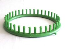 "9.3"" Knifty Knitter Plastic Large Round Loom Hats Knitting 36 Pegs Green"