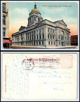 INDIANA Postcard - 1914 Fort Wayne, Court House P32