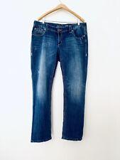 7 Seven For All Mankind Women's Straight Leg Medium Wash Sz 16 38W x 31L
