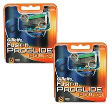 12 Gillette Fusion ProGlide Power Rasierklingen 12 Stück Gillete OVP 2x 6er