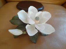 New ListingHomco Masterpiece Porcelain Bone china Magnolia Flower Figurine Signed Gorgeous!