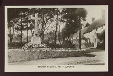 Dorset WEST LULWORTH War Memorial c1920/30s? RP PPC local pub H.J.Chaffey