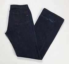 Gas blue jeans w33 tg 46 47 svasati zampa loose blu usato vita bassa donna T1763
