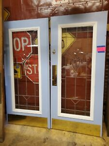 Vintage Beveled Glass Door Old Door Accent Door Pantry Door