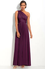NEW TWOBIRDS Bridesmaid Convertible Jersey GOWN SIZE B (14-24) $330 PLUM