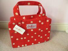 BNWT Cath Kidston Red Mini Spot Oil Cloth Small Zip Box Bag