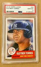 2018 TOPPS LIVING SET GLEYBER TORRES # 34 PSA 10. ROOKIE OF THE YEAR? PERFECT!