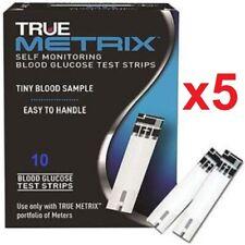 True Metrix Blood Glucose Test Strips Box of 10 X 5 (50 Ct) -Depend on Us!