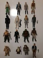 Vintage STAR WARS x16 Figures Bundle Job Lot ❤️ Original Kenner 70s 80s